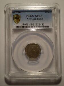 SBF38-Canada-Newfoundland-1896-silver-10-cents-PCGS-XF45