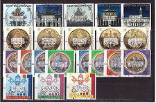 Vatikan ATM gestempelt 2000-2004 komplett, 1-5, 6-10, 11-14 x+y, 15-17