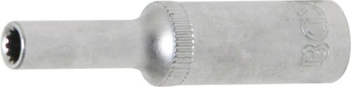 """tief Innenvierkant 1//4/"""" SW 4mm BGS 10154 Steckschlüssel-Einsatz Gear Lock"""
