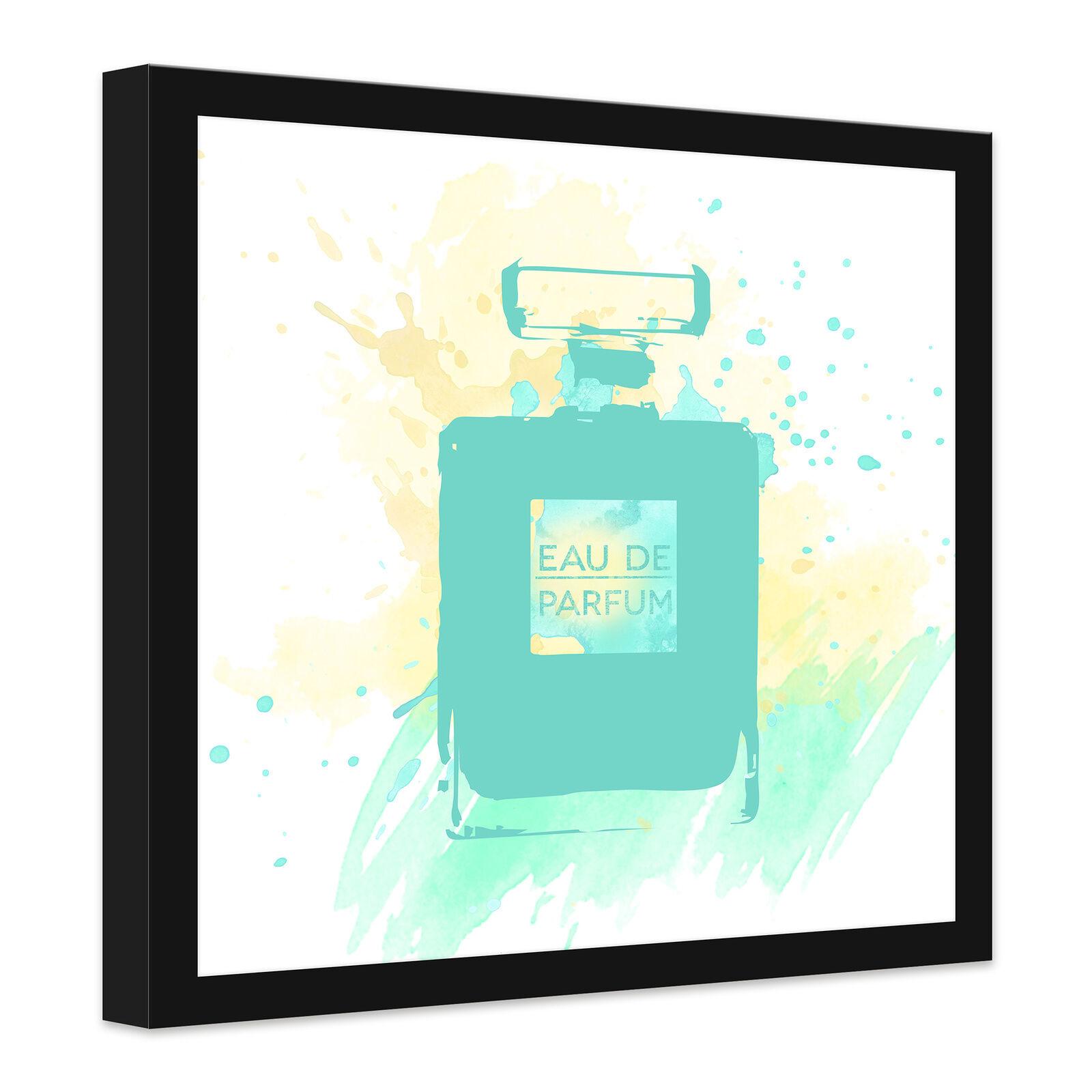 Lienzo de imagen Parfum del lienzo Eau de Parfum imagen acuarela-Mint turquesa 5f0da5