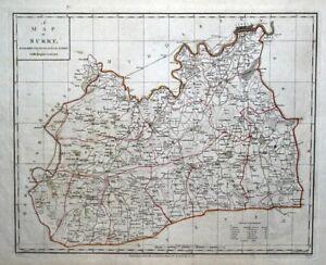 SURREY-amp-LONDON-Original-Copper-Engraved-Antique-County-Map-Harrison-1788