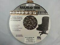 Nickel 30 Feet Upholstery Tackstrips Roll Nail Strip Nailhead Trim + 144 Nails