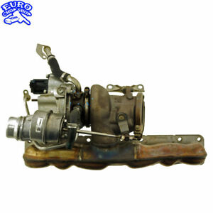 EXHAUST-MANIFOLD-TURBO-CHARGER-TURBOCHARGER-BMW-F07-535i-GT-640i-740i-11-15-50K