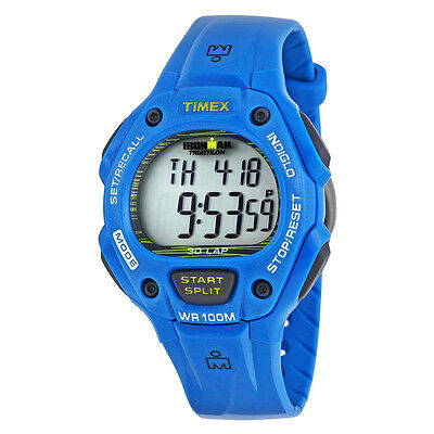 Timex Ironman Traditional 30-Lap Full Size Digital Dial Blue Resin Mens Watch