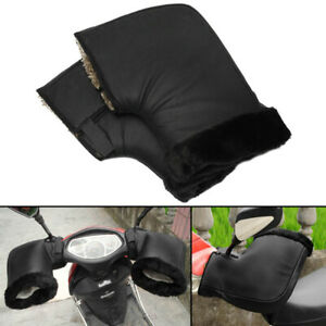 2x-Motorrad-Handschuhe-Roller-Lenkerstulpen-Handwaermer-Hand-Muffs-Winter-Waermer
