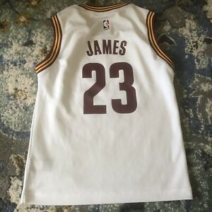 adidas Lebron James Cleveland Cavaliers Cavs #23 Home White Jersey ...