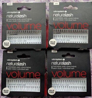 1e9f5bcf1b0 Salon Systems Naturalash VOLUME Individual Lashes Bulb Free Black LONG Job  Lot | eBay
