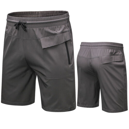 Men/'s Athletic Basketball Running Workout Gym Shorts with Zip Pocket Quick dry