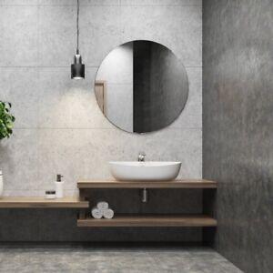 Runder Badezimmerspiegel.Runder Badspiegel Rundspiegel Runder Spiegel Mit Aufhangebleche 6mm Starke Ebay