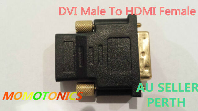 DVI Male To HDMI Female Plug Converter Adapter for HDTV Computer Monitor AU Sell