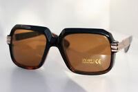 Tortoise Retro Square Hipster Rapper Sunglasses 80's Gold