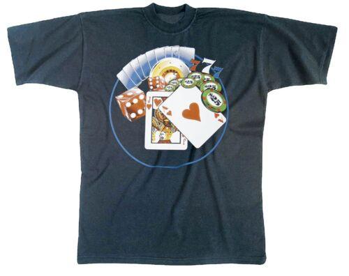Fun t-shirt s m l xl xxl shirts avec print Cartes Dés casino 09277