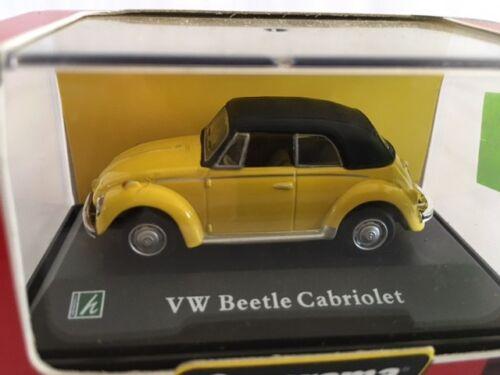 VW Beetle Cabriolet Yellow Cararama 1:72 C017100-17
