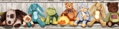 RoomMates Bordüre Kuscheltiere Babyzimmer Tapeten Borte Teddy Plüschtiere