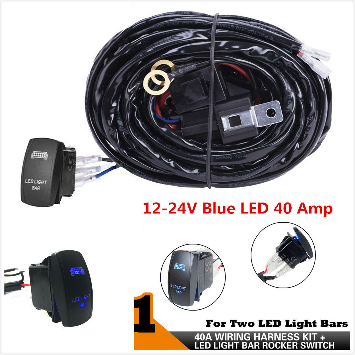 Atv Rv Roof Led Light Bar Wiring Harness 40 Amp Relay On Off Laser Kit For Norton Secured Powered By Verisign