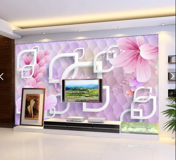 3D Flowers 4087 Wallpaper Murals Wall Print Wallpaper Mural AJ WALL UK Carly
