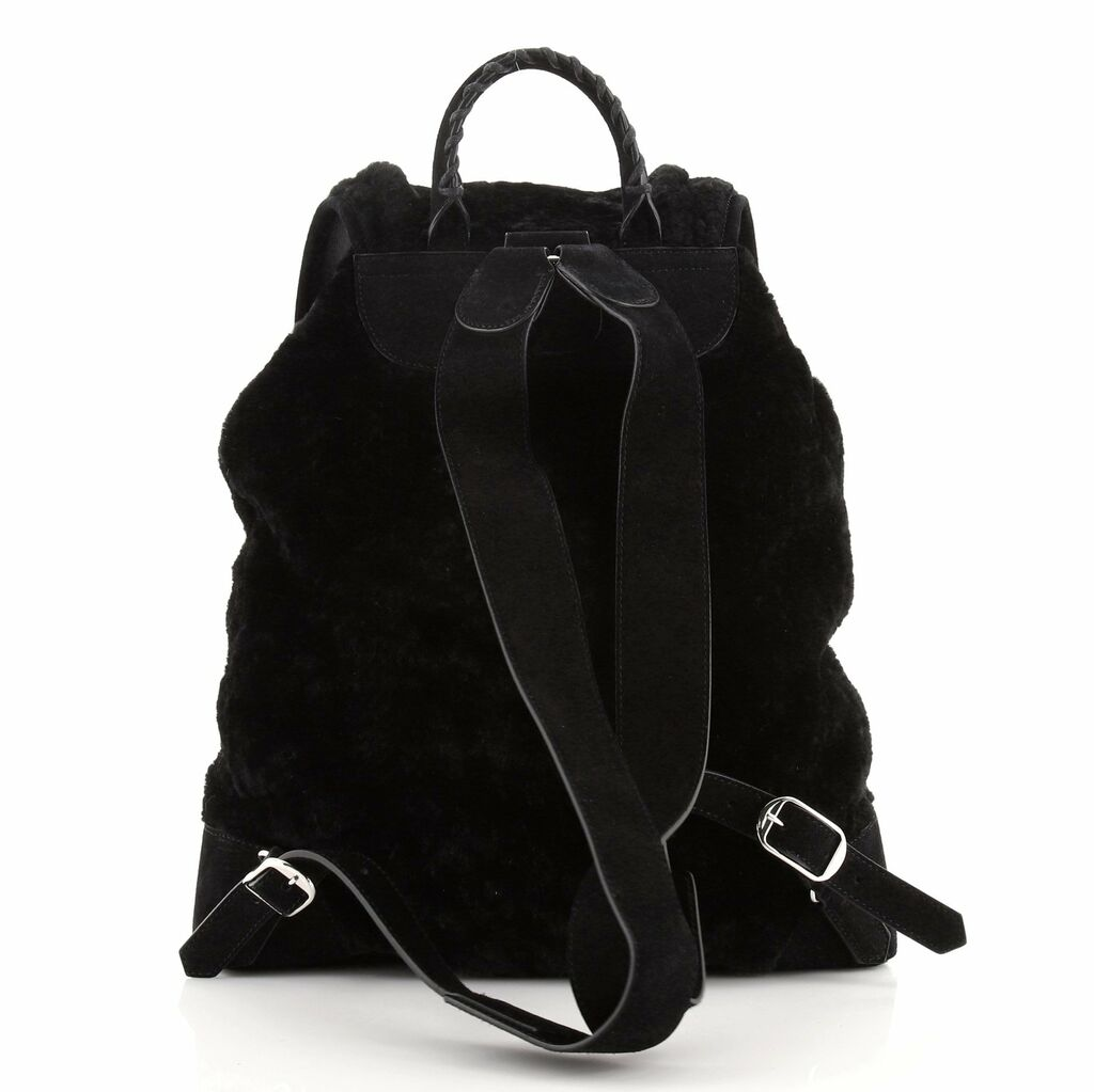 Balenciaga Classic Traveller Backpack Shearling with Suede    eBay