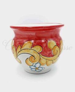 Vasi In Ceramica Di Vietri.Cachepot Vaso In Ceramica Di Vietri Decorato A Mano Porta Vaso