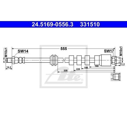 ORIGINAL ATE BREMSSCHLAUCH BREMSLEITUNG VORNE BMW 5-ER E39 BJ 96-03
