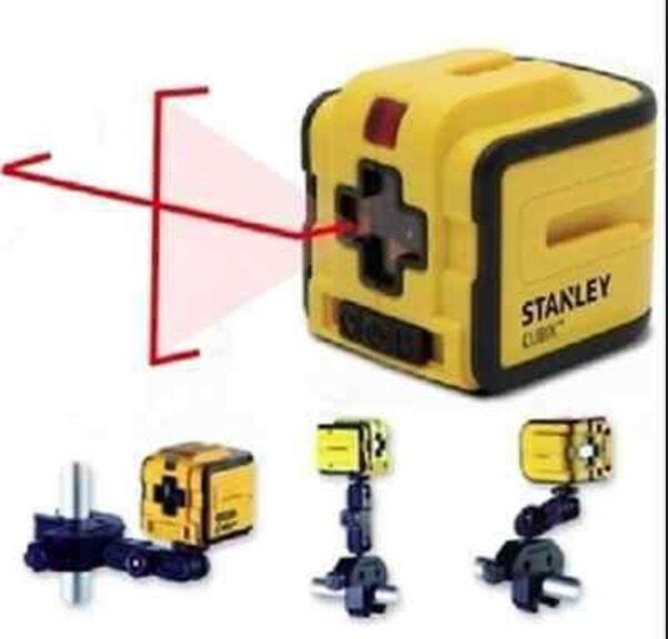 NUOVO Stanley CUBIX Self Livellamento Laser Cross Line Livello/Plumb STHT 1-77340 + Mount