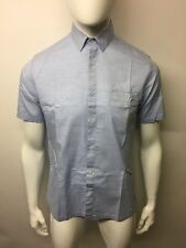 Sunspel Short Sleeve Shirt Size S Light Blue