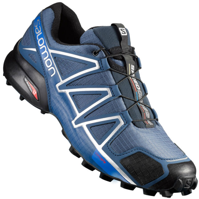 78a5b092dd11 Salomon Speedcross 4 Men s Trail Running Shoes Slate Blue Black ...