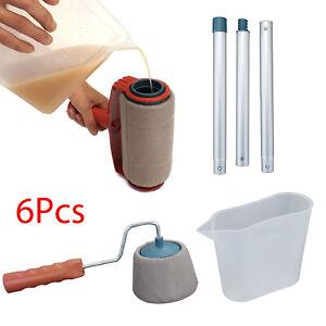 6-PCS-Paint-Roller-Brush-Set-Runner-Pro-Handle-Household-Use-Wall-Edger-Painting