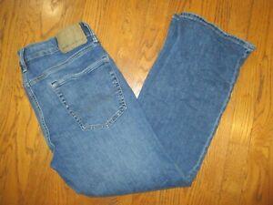 Great-Men-039-s-AMERICAN-EAGLE-Next-Level-Flex-Original-Boot-Blue-Jeans-Size-33x30