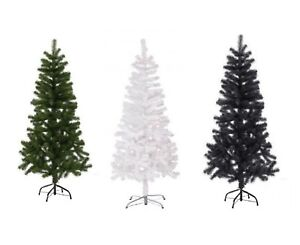 Artificial-Christmas-Tree-Green-White-amp-Black-2-3-4-5-6-amp-7FT-Xmas-Decorations