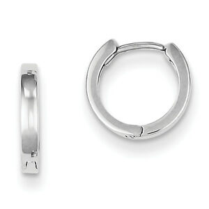 925-Sterling-Silver-Rhodium-Plated-Polished-1-8mm-x-9mm-Hinged-Hoop-Earrings