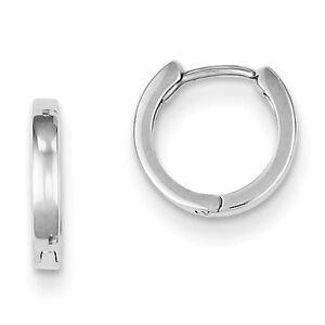 925-Sterling-Silver-Rhodium-Plated-Polished-1-8mm-x-9mm-Hinged-Hoop-Earrings