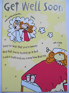 Hallmark fantastic funny poem colourful get well greeting card ebay image is loading hallmark fantastic funny poem colourful get well greeting m4hsunfo