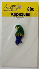 SEW PERFECT SEW ON APPLIQUE - EMBROIDERED, NEW -  PARROT   HK 100