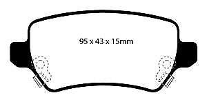 DP41447R EBC Yellowstuff REAR Brake Pads fit HOLDEN OPEL VAUXHALL
