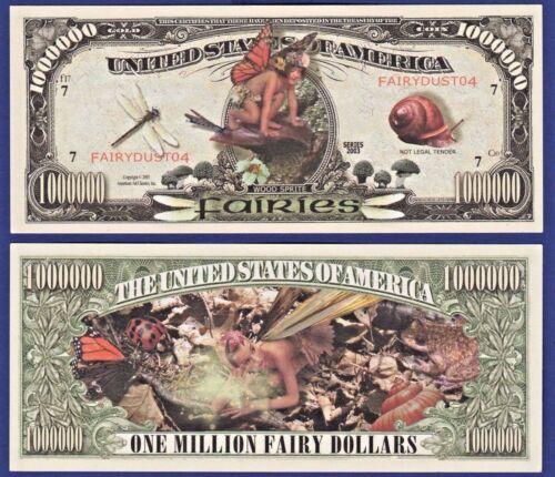 2-Fairies Million Dollar Bills Collectible-MONEY NOVELTY FANTASY-item-E1