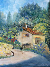 Huile sur carton cabanon à Ceyreste Provence signée M. Bailly France