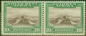 S-W-A-1931-10s-Rouge-Brun-amp-Emeraude-SG84-Fin-Legerement-MTD-Excellent-Etat