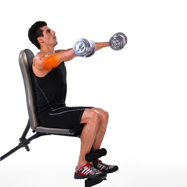 VI Home Fitness Gym Workout Strength Dumbbell Bench Chair With Pulling Rope