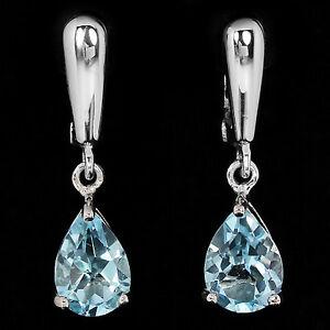 LDN-Sublime-Boucles-d-039-oreilles-Topaze-bleu-Argent-925