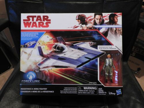 Star Wars VIII Class B Vehicle Wave 1 A-Wing with 3 3//4 inch Action Figure