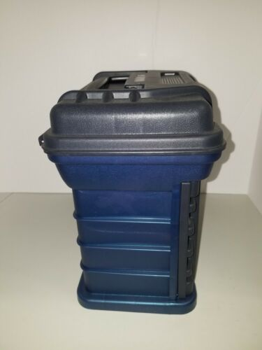 """Plano 3500 Fishing 4-BY Rack System 4 Drawer Tackle Box Blue 11/""""x11/""""x7/"""""""
