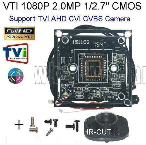 """TVI HD 1080P 2.0mp 1/2.7"""" TVI/AHD/CVI and CVBS CCTV Board Camera OSD Menu+IR-CUT"""