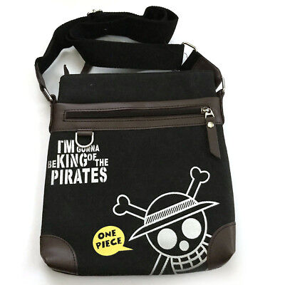 Anime One Piece I M Gonna Be King Of The Pirates Monkey D Luffy Messenger Bag Ebay