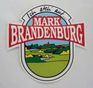Souvenir-Aufkleber Mark Brandenburg Nordmark Landstrich Berlin Elbe Or 80er