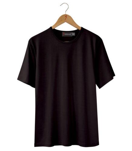 Silkbody Men/'s Black Short Slv Casual Fit72/%silk15/%cotton13/%wool SB156BK 65/%OFF!