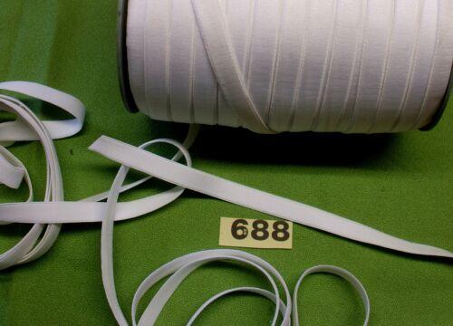 688 3m x 14mm WHITE Soft Elastic Haberdashery tape Flat Elastic tape