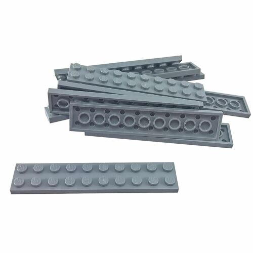 10 NEW LEGO Plate 2 x 10 BRICKS Light Bluish Gray