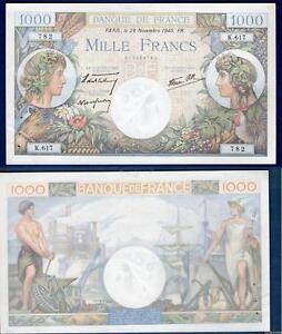 1000 Francs Commerce Et Industrie Type 1940 - 28-12-1940 K.617 Qualité Sup +