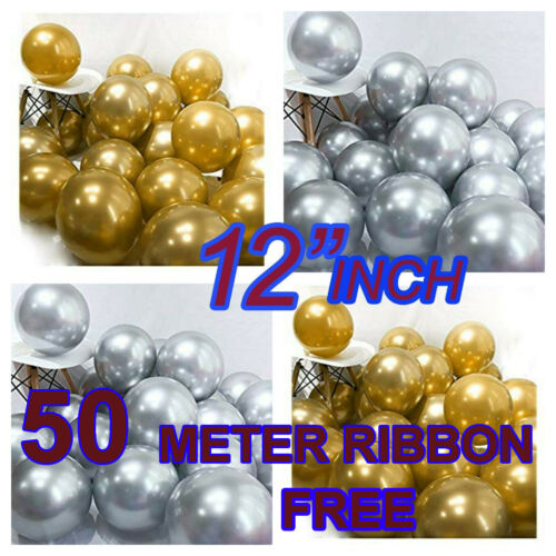 """Chrome Gold Latex 12/"""" Latex Balloons Party Weeding Decoration"""