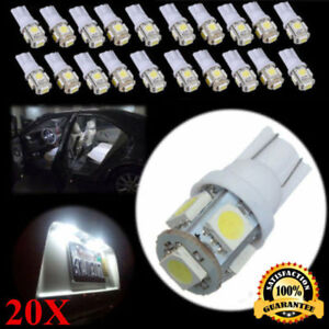 20x-T10-5050-W5W-5-SMD-194-168-LED-White-Car-Side-Wedge-Tail-Light-Lamp-Hot